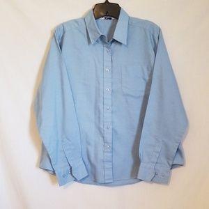 Tops - Blue Chambray Button Down Shirt